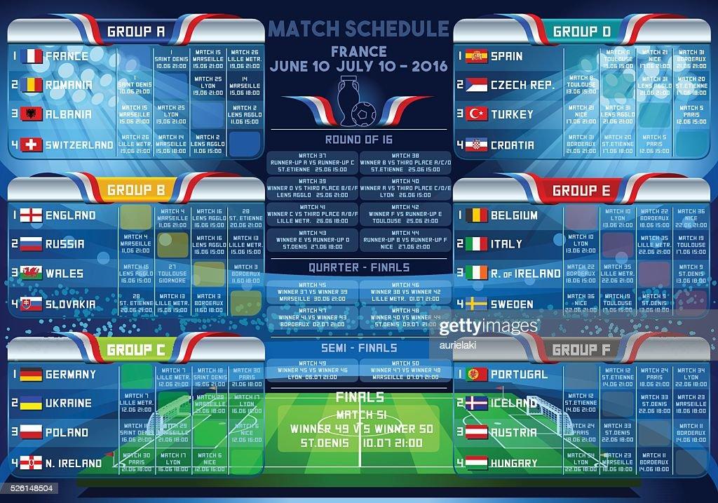 Cup EURO 2016 Finals Schedule