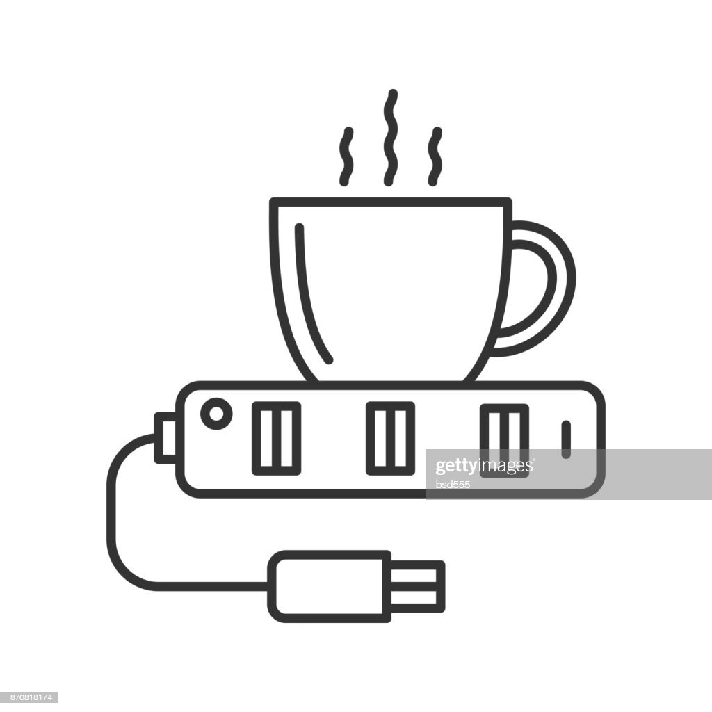 USB cup heater icon
