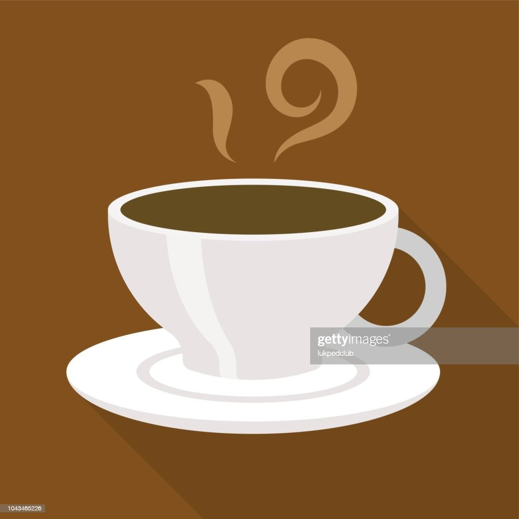 Cup of coffee expresso or americano, flat design