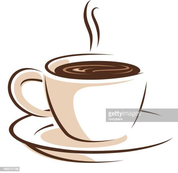 cup of coffee symbols - clip art stock illustrations