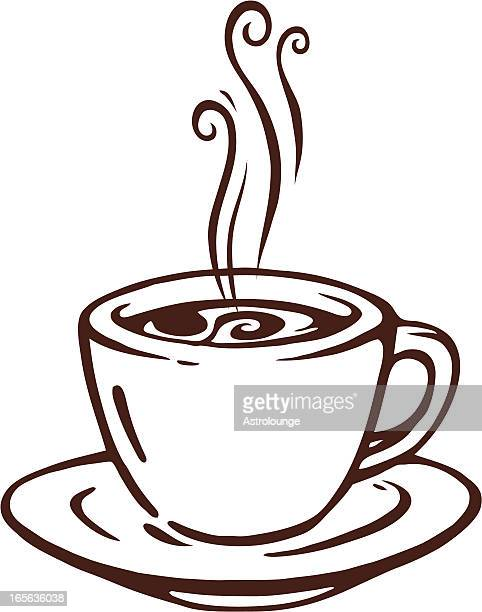 cup of coffee - coffee cup stock illustrations