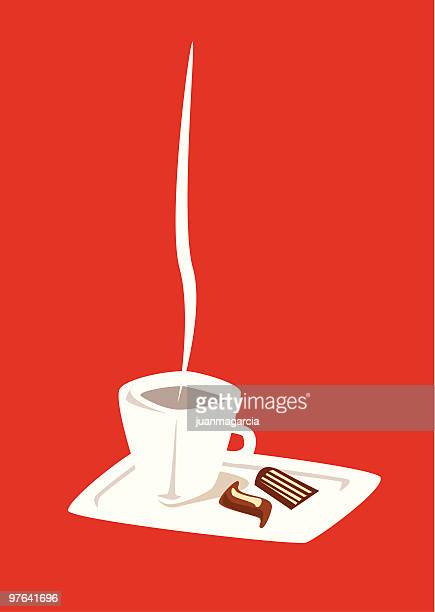 cup of coffee with chocolates - lunch break stock illustrations, clip art, cartoons, & icons