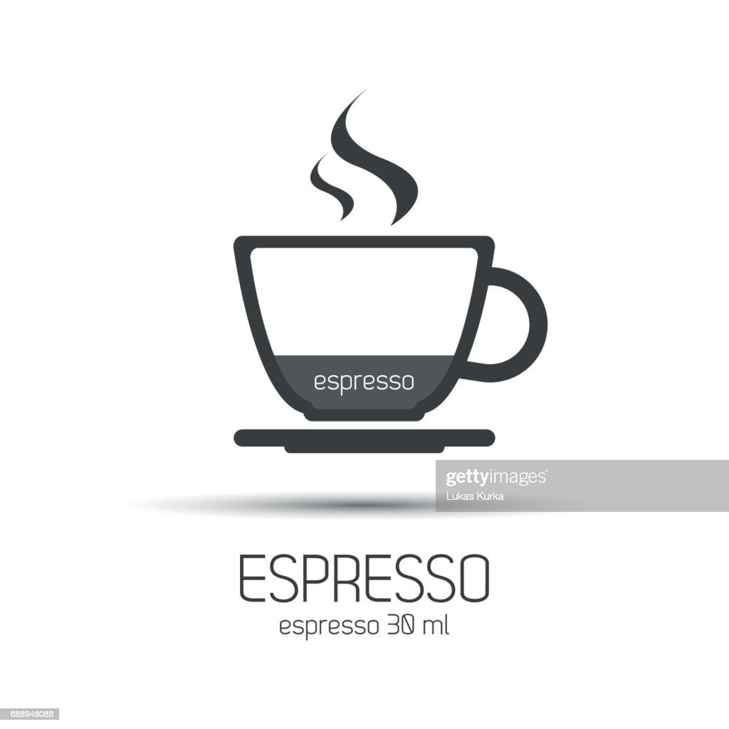 Cup of espresso, simple vector icons