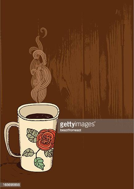 cup of hot drink - hot drink stock illustrations, clip art, cartoons, & icons