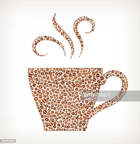 cup of hot royalty free coffee bean pattern - shot glass stock illustrations, clip art, cartoons, & icons