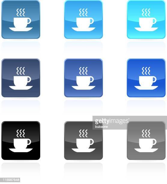 ilustraciones, imágenes clip art, dibujos animados e iconos de stock de taza de té o café arte vectorial libre de derechos - al vapor