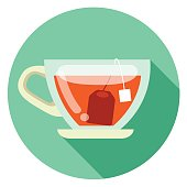cup of tea flat design icon