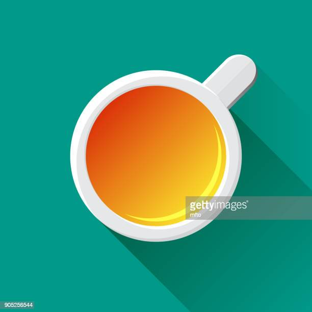 cup of tea - pottery stock illustrations, clip art, cartoons, & icons