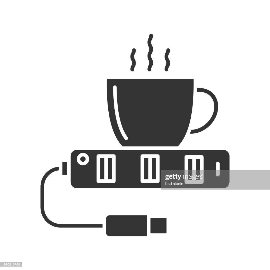 USB cup warmer icon