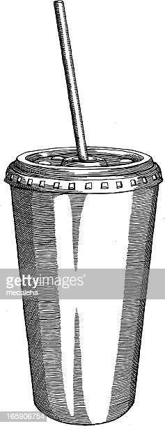 Cup with a Straw Drawing