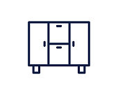 cupboard line icon illustration vector , cupboard line icon illustration design