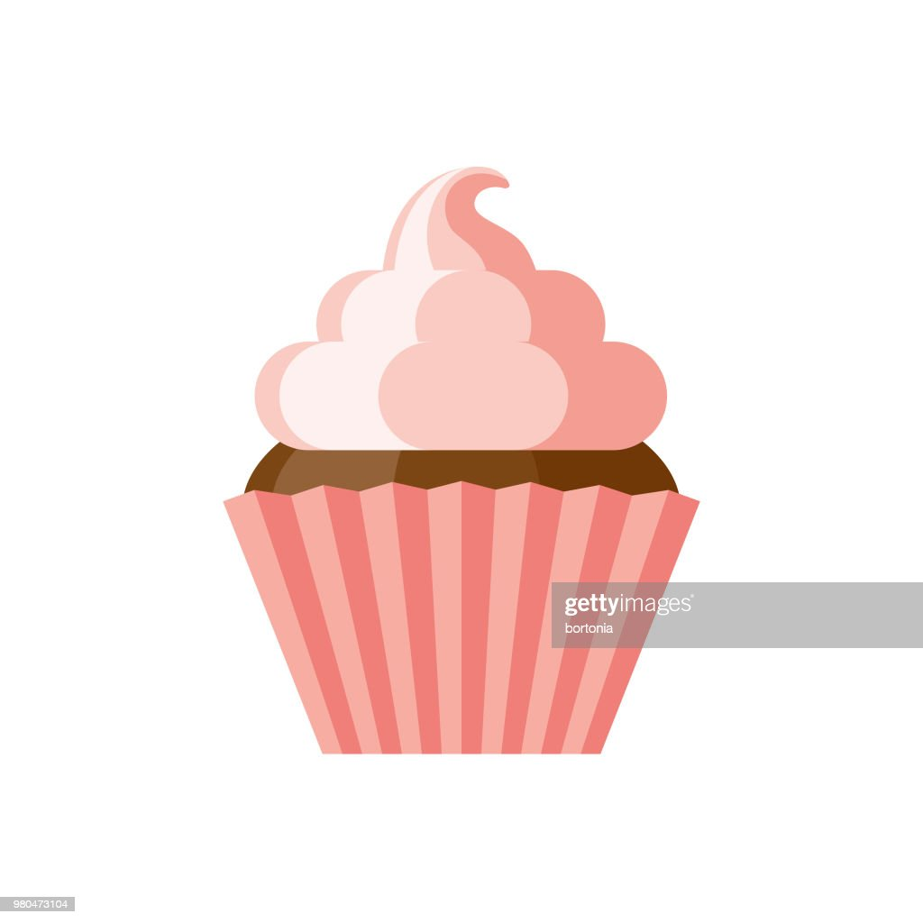Cupcake Flat Design Dessert Icon