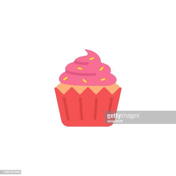 カップケーキアイコンフラットデザイン。 - カップケーキ点のイラスト素材/クリップアート素材/マンガ素材/アイコン素材