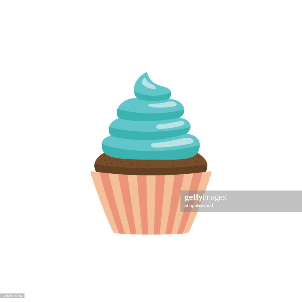 cupcake icon flat