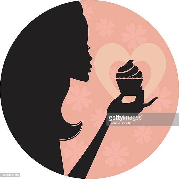cupcake love - baked stock illustrations, clip art, cartoons, & icons