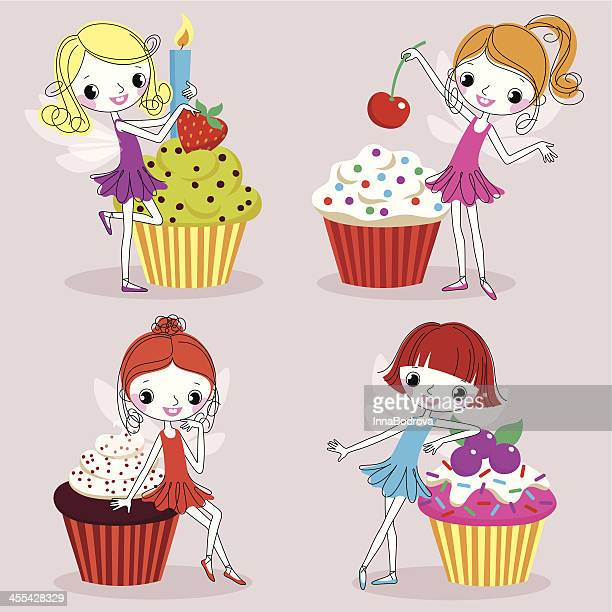 cupcakes. - baked stock illustrations, clip art, cartoons, & icons