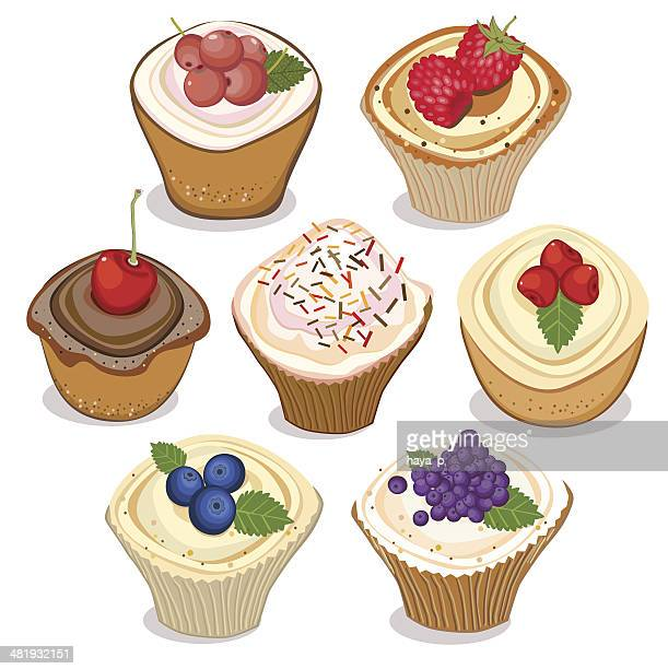 cupcakes - muffin stock illustrations, clip art, cartoons, & icons