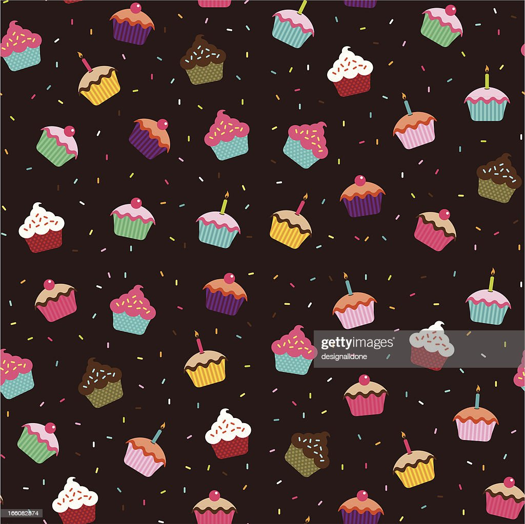 Cupcakes Wallpaper (Seamless)