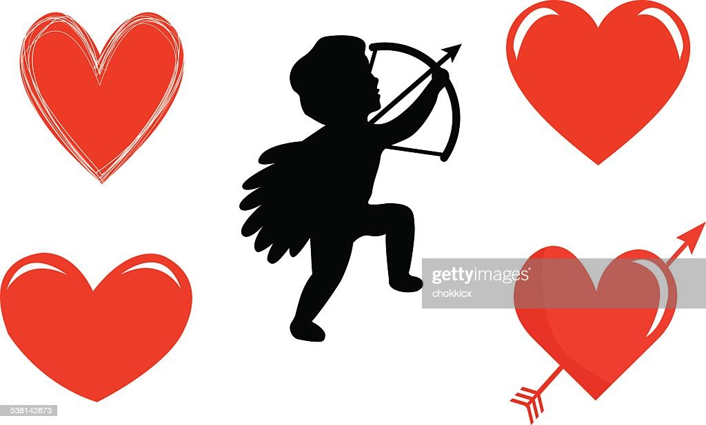 Cupid And Heart Symbols Vector Art Getty Images