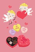 Cupid Hearts Candies and Chocolates for Valentine's Day