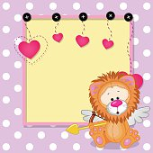 Cupid Lion with frame