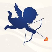 Cupid love silhouette