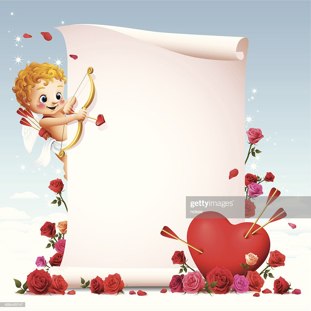 Cupido-desplazamiento : Ilustración de stock