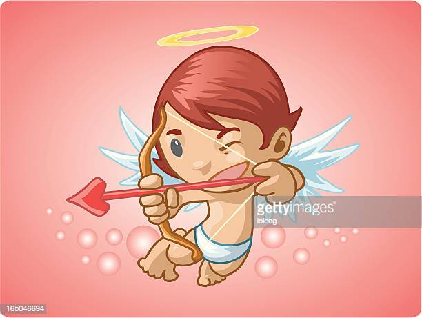 cupid - animal heart stock illustrations, clip art, cartoons, & icons