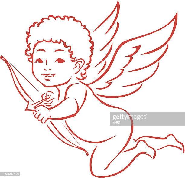 amor - cupidon stock-grafiken, -clipart, -cartoons und -symbole