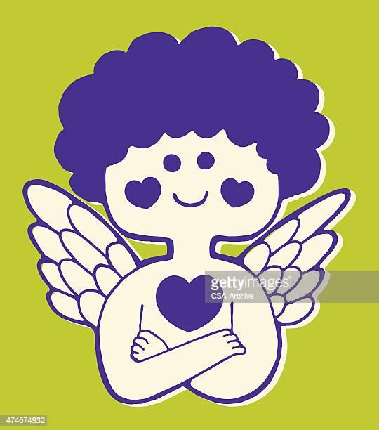 Cupido con brazos cruzados