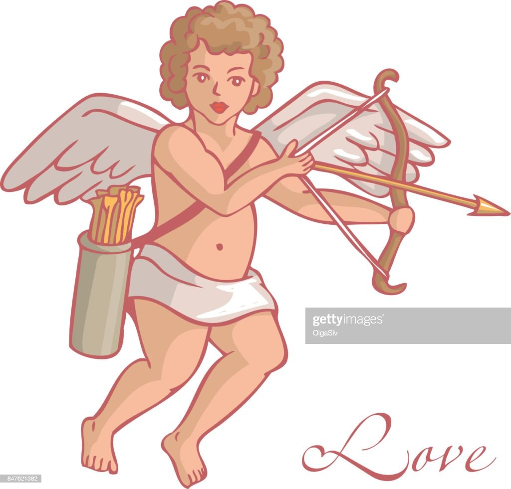 Cupid with quiver and arrows