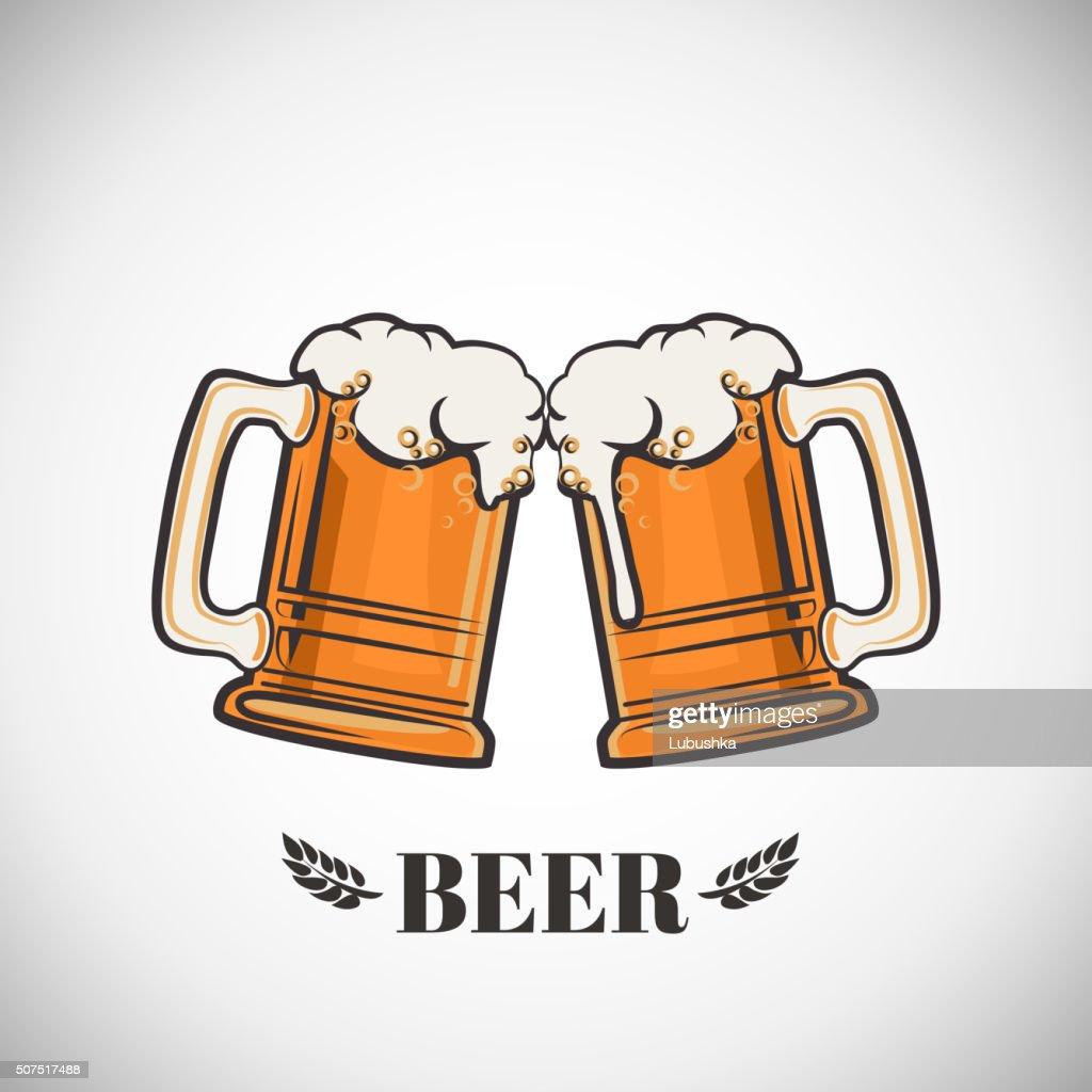 Cups of beer