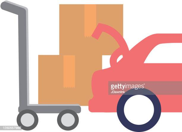 curbside pick up icon - curbside pickup stock illustrations