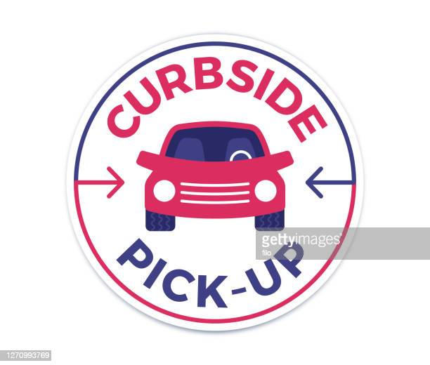 curbside pickup available - curbside pickup stock illustrations