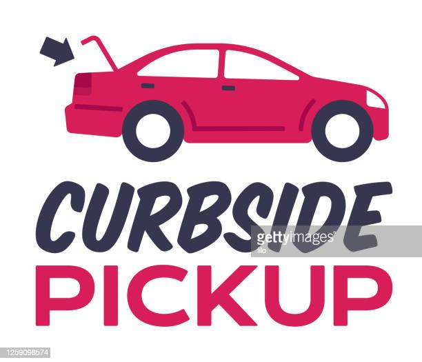 curbside pickup or touchless contactless delivery - curbside pickup stock illustrations