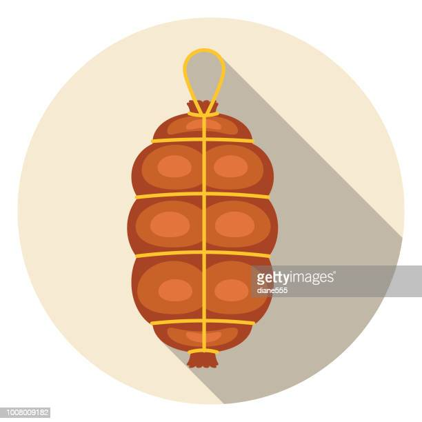 Cured Salami Meat Icon