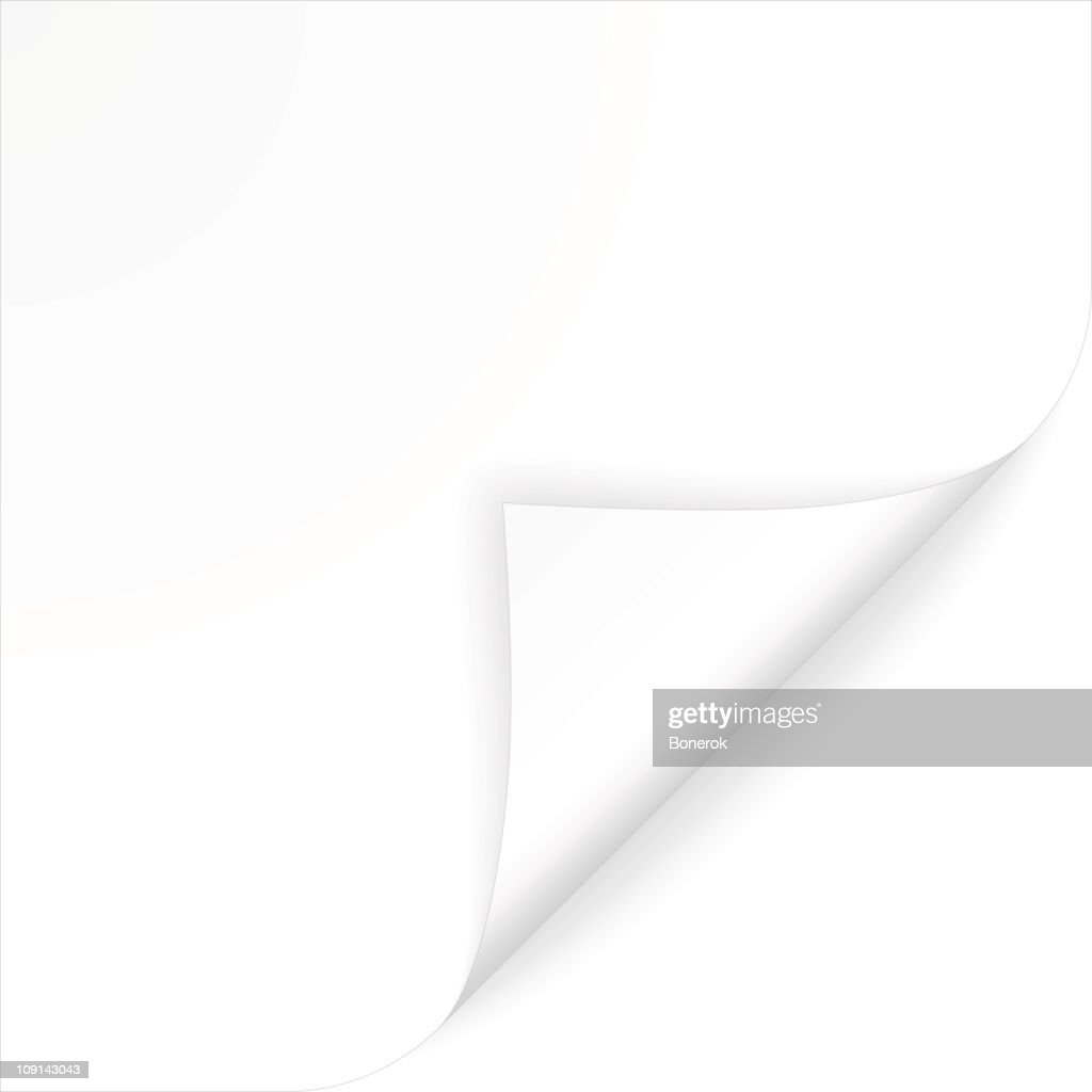 Curled paper : stock illustration