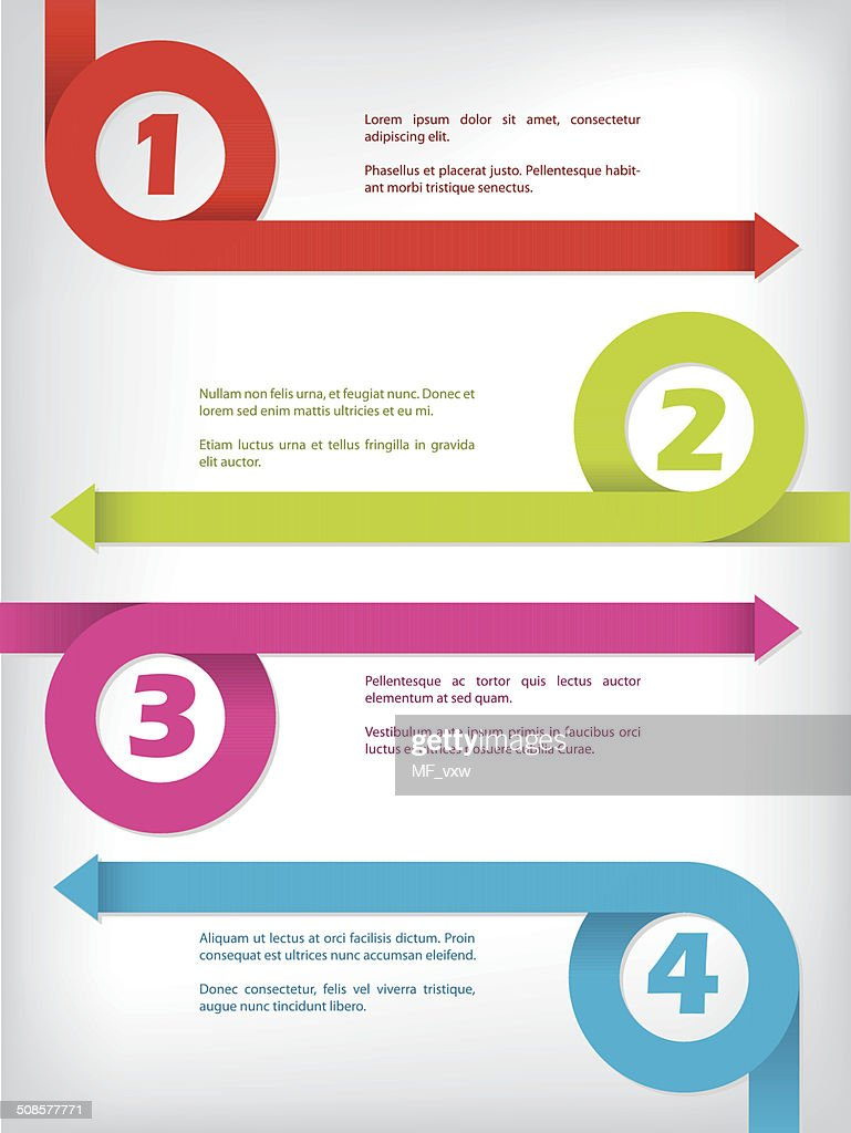 Curling color arrow infographic design : Vectorkunst