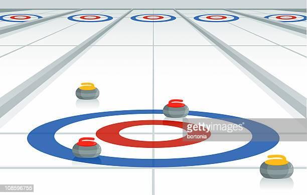 curling rink - curling sport stock illustrations