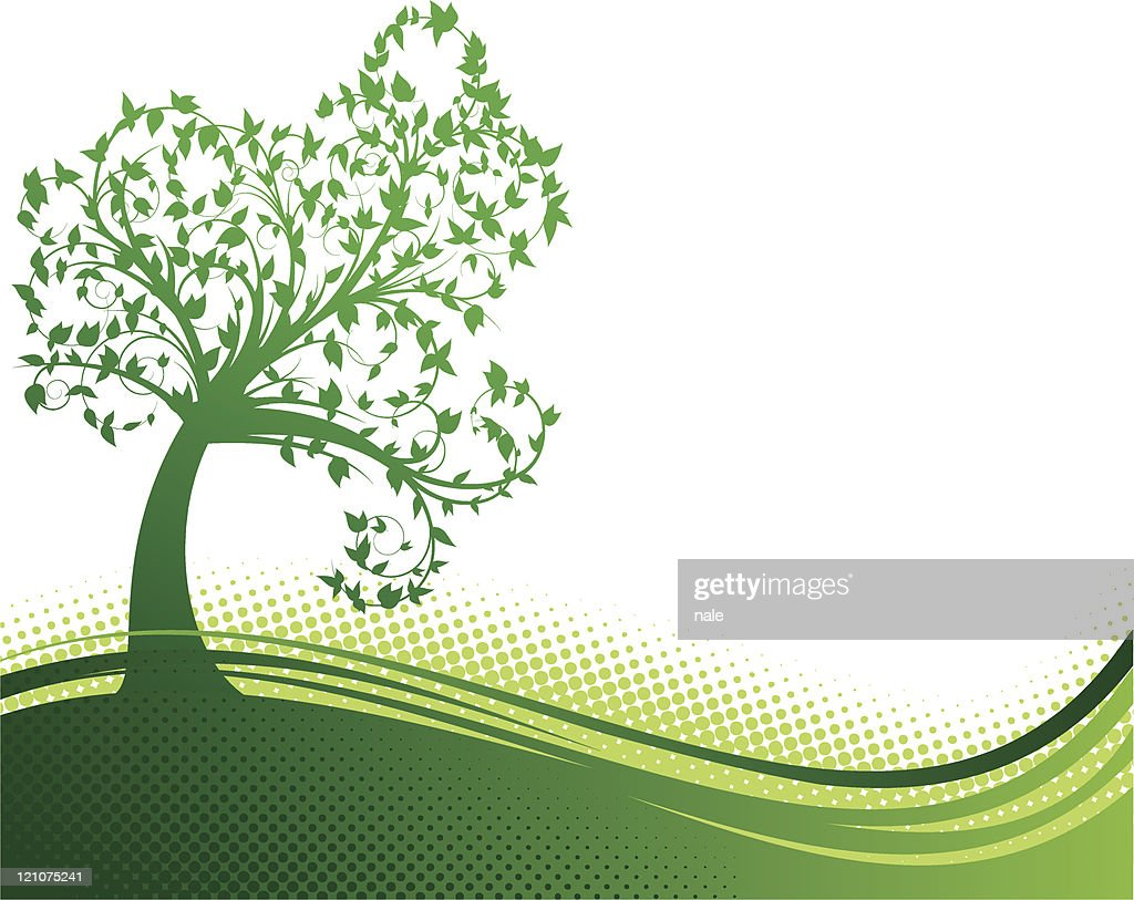 Curly green tree