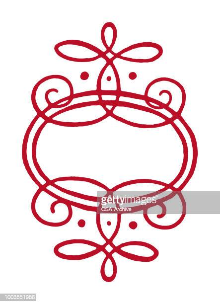 curly ornament - filigree stock illustrations