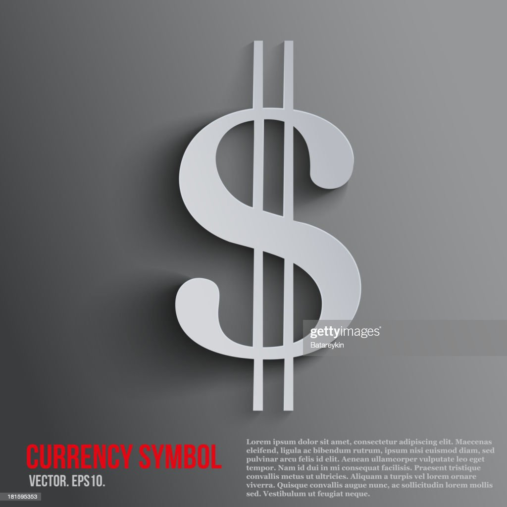 Currencies background with dollar symbol