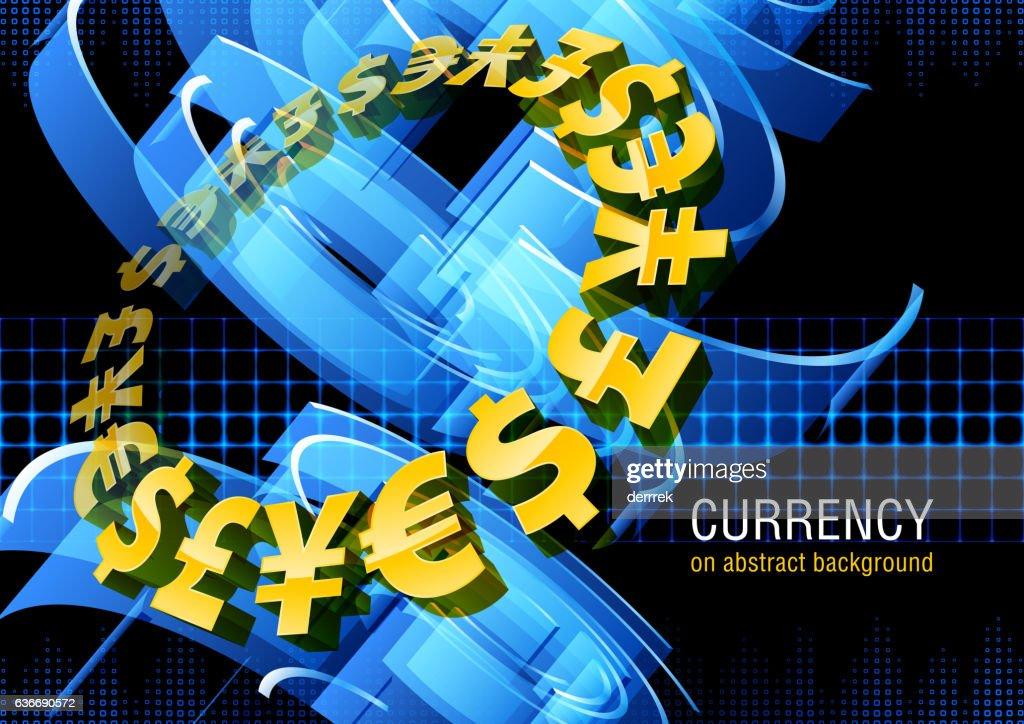 Devise Dollar Euro Yen Et Livre Clipart Vectoriel Getty Images