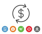 Currency exchange line icon. Money Transfer.