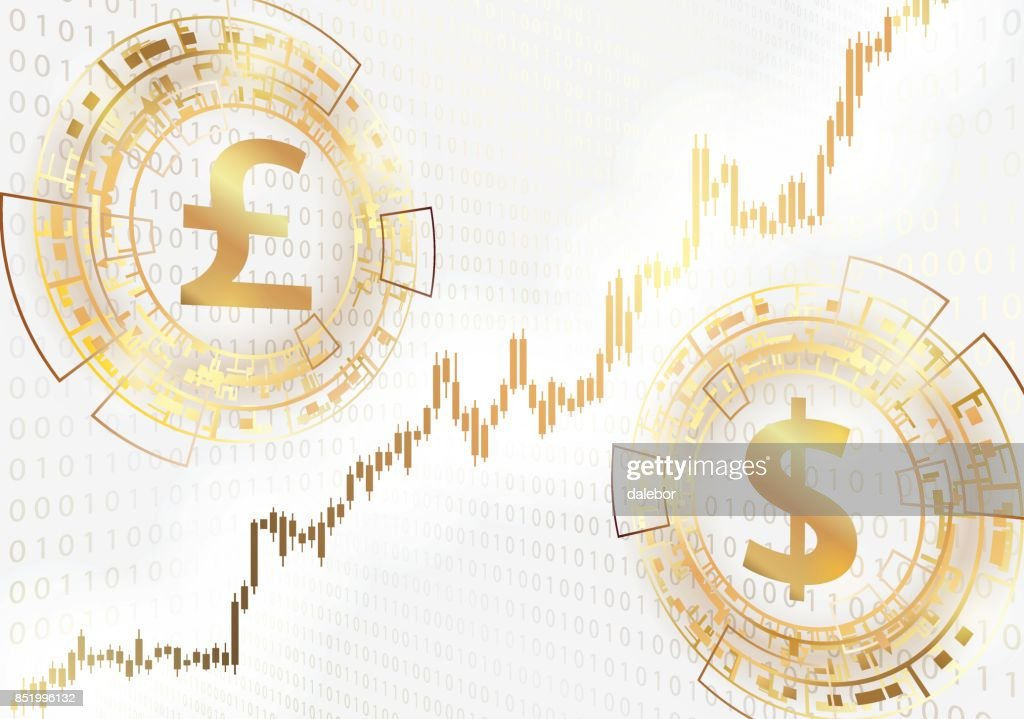 Currency Exchange Pound Sterling And Dollar Vector Art