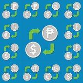 Currency exchange. Set 5.