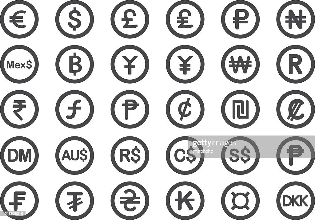 Currency icons - Illustration
