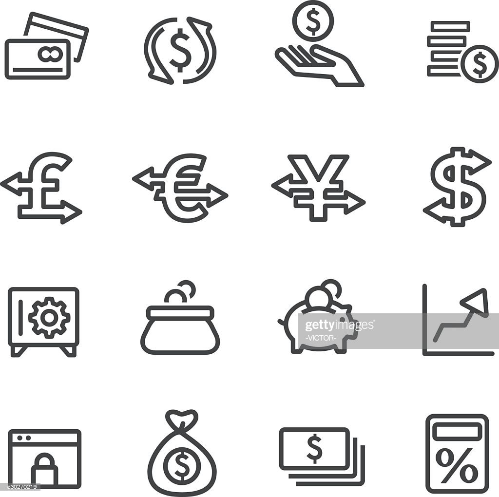 Currency Icons - Line Series : Stockillustraties