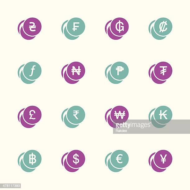 Currency Symbol Icons Set 1 - Color Series | EPS10