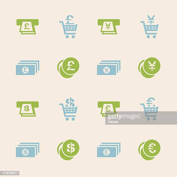 Currency Symbol Icons Set 3 - Color Series | EPS10